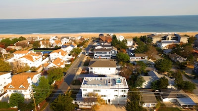 Aerial View of Memories Villa and it's close proximity to Ocean and Beach!