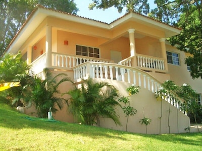 Front View of this 2 Story Villa