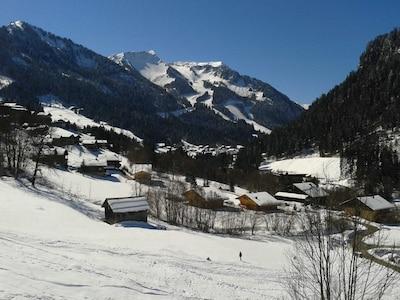 vue du balcon hiver