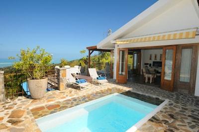 Villa Mon Repos Coromandel pres des plages de Graviers 3 chambres clim. en suite