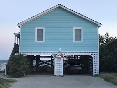 Ponton Ocean Crest Pier, Oak Island, Caroline du Nord, États-Unis d'Amérique
