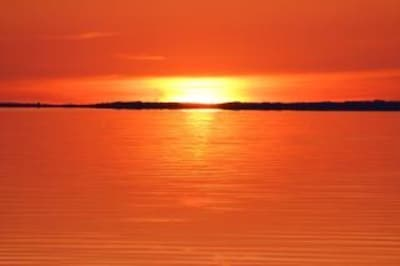 This is just one type of sunset you will see from your front yard!