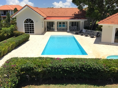 Villa Front View- 40 foot fully tiled pool!