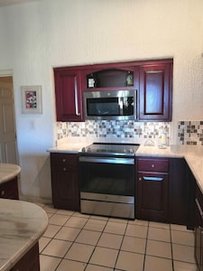Newly remodeled kitchen with stainless appliances!