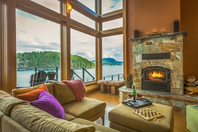 Cozy wood burning fireplace, games, & cable TV for your stormy stay.