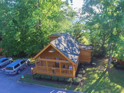view of cabin from air