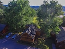 drone view of cabin