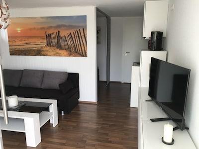 Neu eingerichtetes gemütliches 1.Zimmer Apartement in ruhiger Lage mit TV , WLAN