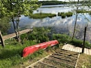 The big red canoe is yours to use during the duration of your stay