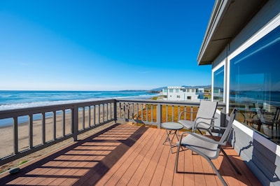 Front deck over the sand.