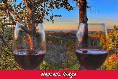 Enjoy a glass of wine admiring the incredible mountain and valley view!