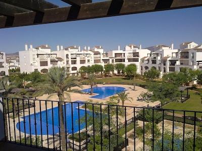 Pools & Garden from the Balcony & Sun Terrace
