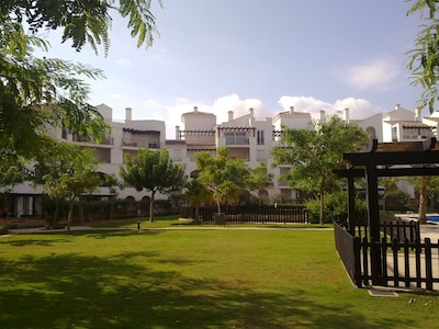 The apartment from the pools