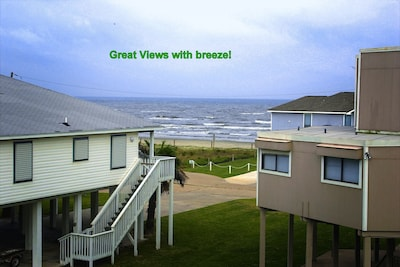 Ocean view from the balcony and dining area! beach a 2 minute walk!