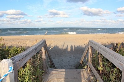White Street beach access is just steps from the house