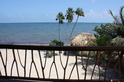 Views of beach and sea from your balcony