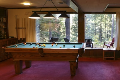 Professionally installed pool table