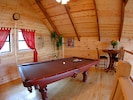 Pool table loft with a third level deck... yes please
