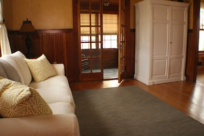 Living Room with queen pullout bed
