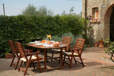 Dine al fresco on the patio of Casa San Vito