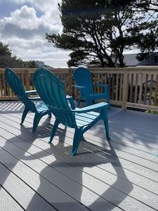 New deck overlooking ocean.