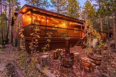 Backyard Deck & Campfire Area