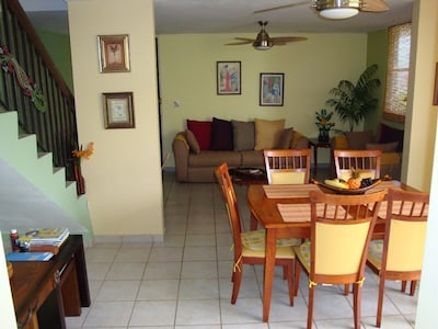 Spacious Open Dining and Living room
