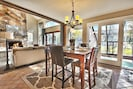 Dining Room with seating for 6, huge views and private glass enclosed hot tub.