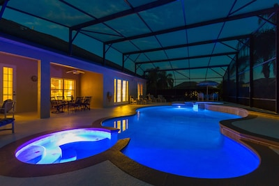 Pool at night - perfect relaxation