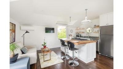 Kitchen + sitting area view