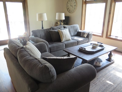 Family room w/ lots of natural light
