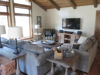 Family room with 4KTV, media center with games/movies