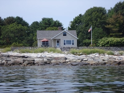 View of cottage from ocean
