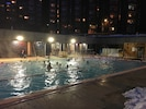 Open-air pool - heated! At 6:00 pm in January!!