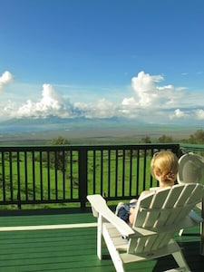 Relax on the deck overlooking the world.