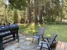 Enjoy your meal outdoors with a bbq for grilling all your favorite foods.