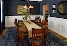 Rustic elegance in our main level dining room located right off of the kitchen