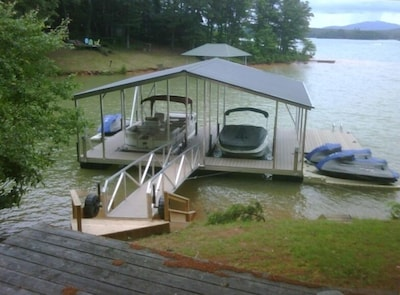 Dock with swim platform