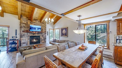 Appointed with Rustic decor, Local Wood & Stone treatments