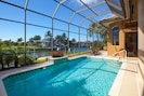 Large  heated pool with views to relish.