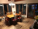 Dining Area open to kitchen and living room, and Lakeview!
