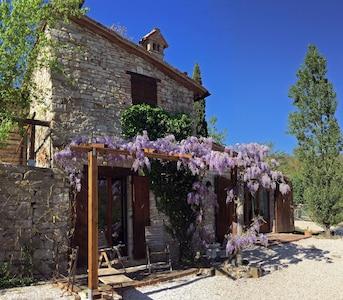 Front of Bacio del Lupo in springtime