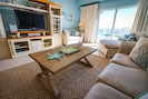 """Expansive living area w/spectacular views over the Gulf of Mexico & Smart 55"""" TV"""