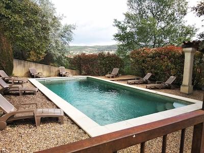 piscine et vue