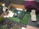 Hot Tub and Astro Turf Area