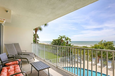 Private Balcony Overlooking the Pool and the Gulf of Mexico