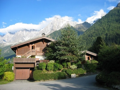 Front of chalet (right side of picture)