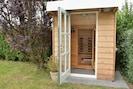 Infrarood sauna in de tuin.