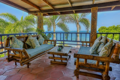 Lounge on the Breakfast Patio, with coffee, or cocktail, and stunning sea views
