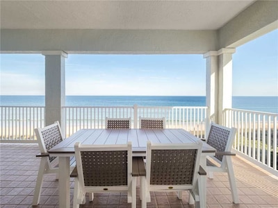 Dine Alfresco on the Balcony - Breathtaking ocean views and balmy sea breezes add zest to any meal.